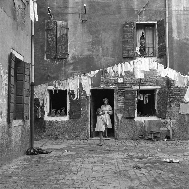 Italian vintage photographs italy black and white venice 1952