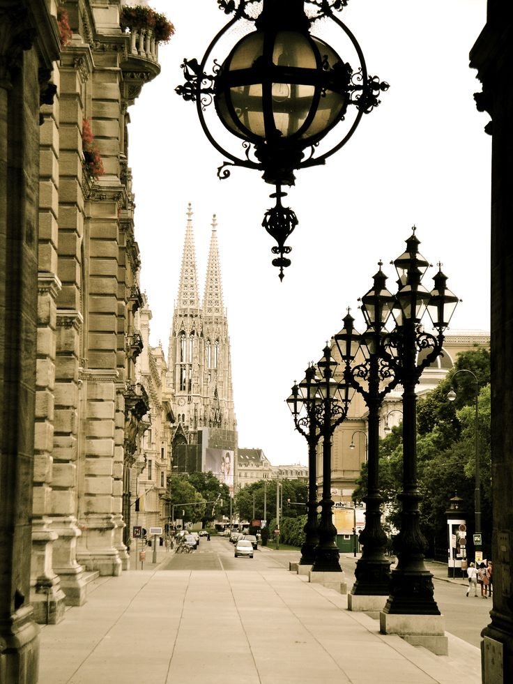 Vienna. I believe that's the Votivkirche in the background.Our tips for things to do in Vienna: http://www.europealacarte.co.uk/blog/2010/07/28/the-best-of-vienna-travel-tips/
