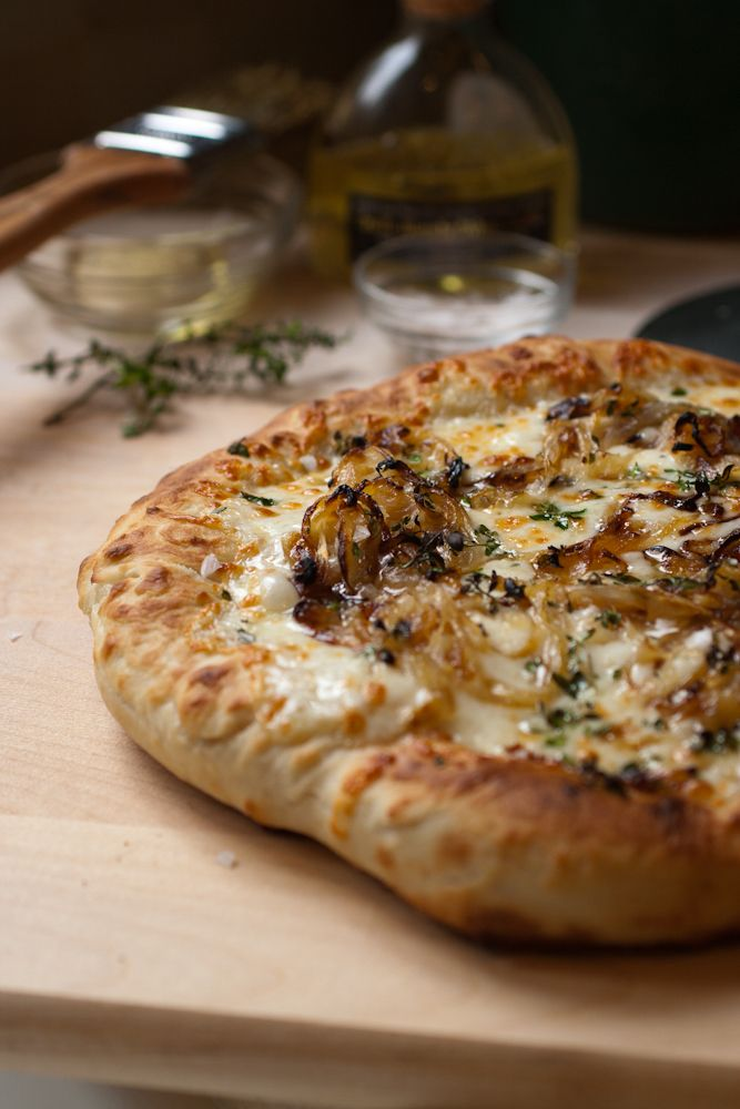 Cannot wait to try this... maybe this weekend. truffle & caramelized onion pizza. Mmmm.  Williams Sonoma in the mall has the best price I've seen for a large bottle of Truffle Oil.  A little goes a long way and adds SO much flavor!