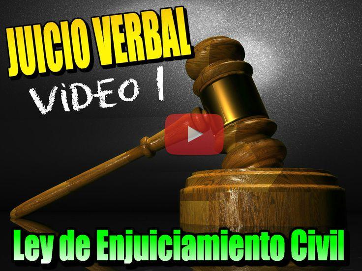 TEMA 16-V Ámbito del JUICIO VERBAL. Art. 250 y 437-447 de la Ley de Enjuciamiento Civil (Procesos declarativos LEC) Legislación Tema 16 Oposiciones AUXILIO JUDICIAL [Oposiciones Justicia 2017 2018]