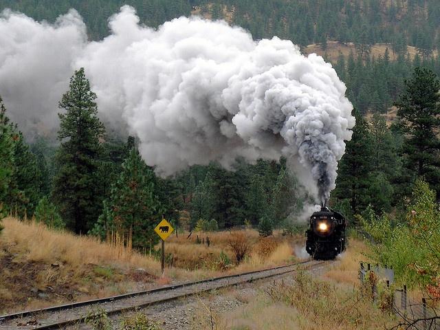 Kettle Valley Steam Railway, ex-CP 3716, Summerland,BC.
