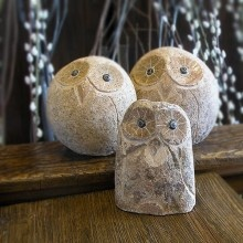 Stone Owl Garden Art - bought some of these for my mom when we lived in England - they're adorable in person!