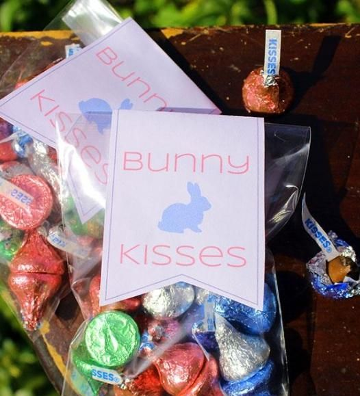 55 best easter ideas images on pinterest easter ideas easter printable gift topper give bunny kisses this easter hopping down hersheys bunny trail negle Image collections
