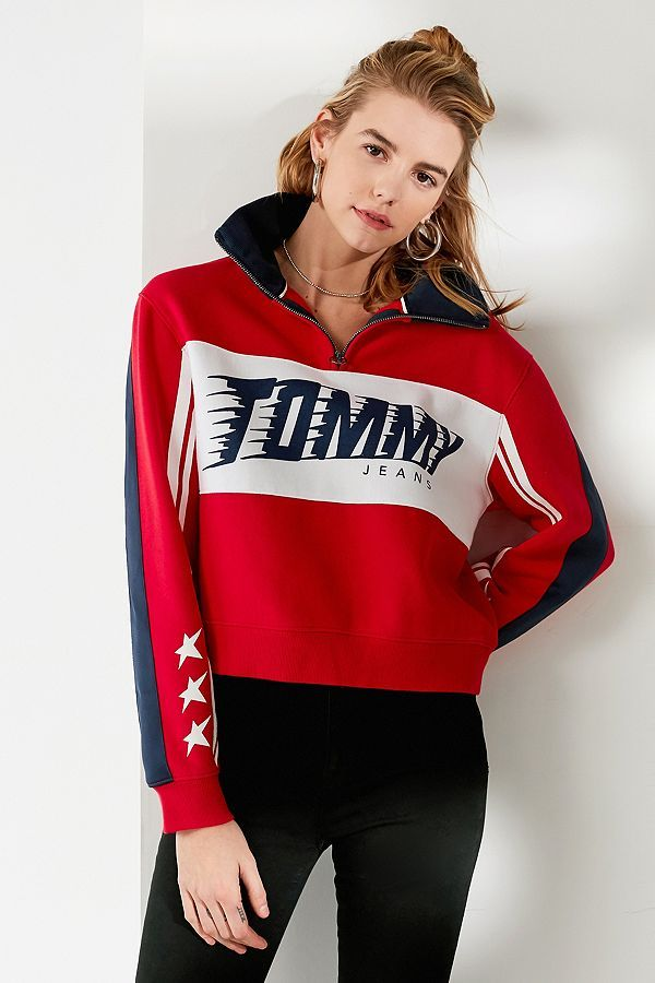 Pin By Caitlin Tayag On Jackets 3 Tommy Hilfiger Outfit Tracksuit Women Urban Outfitters Tee