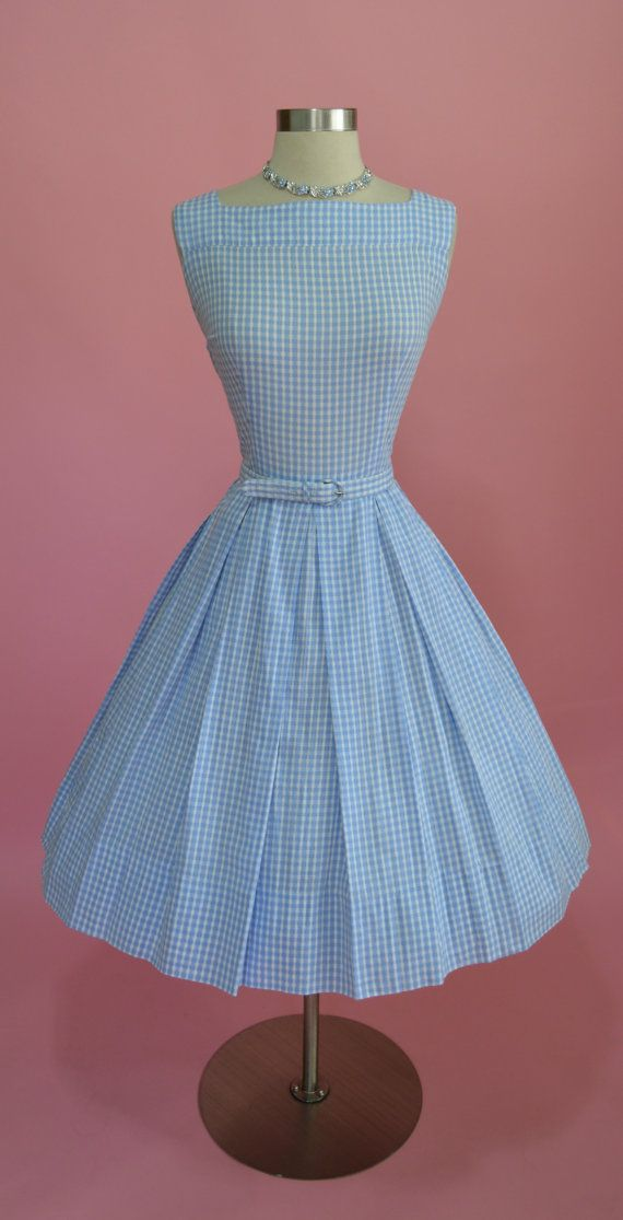 1950's Cotton Gingham Sundress