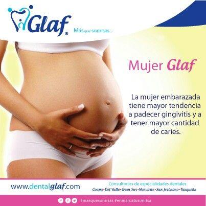 ¿Estás embarazada? ¡Ven a Glaf y cuidaremos de tu salud bucal y la de tu bebé! #Glaf #dentista #df #mujer #familia