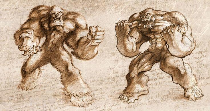 sasquatch vs yeti | Creative Yeti Vs Bigfoot By Efmarado ...