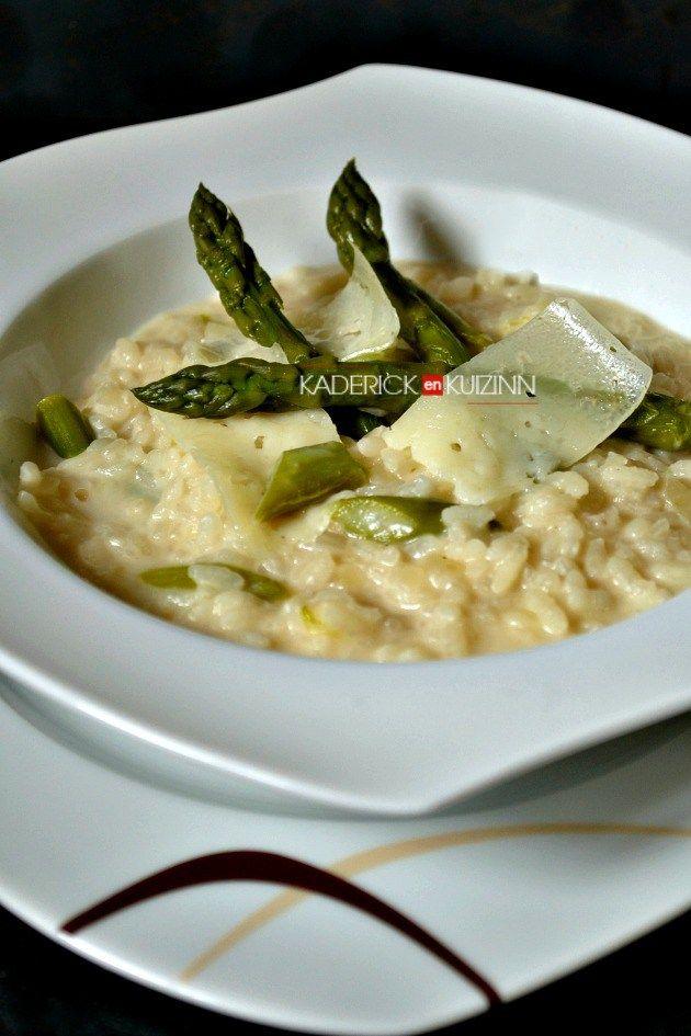 Recette risotto - Risotto printanier aux asperges vertes et fromage