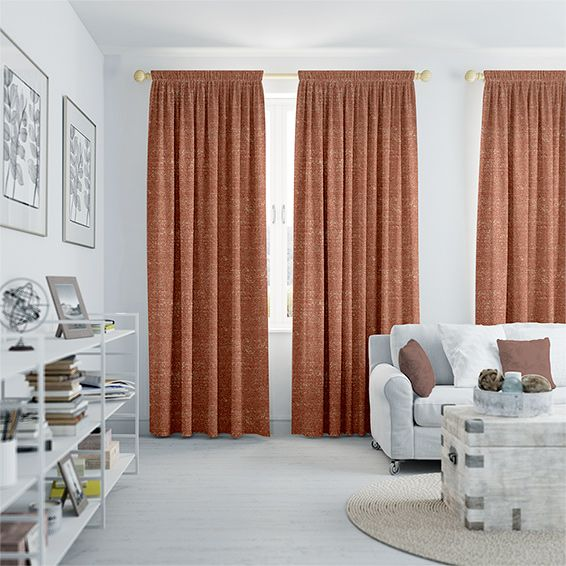 Glimmer Burnt Orange Curtains