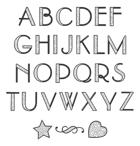 alphabet letters to print stippled alphabet font embroidery font fonts typography 1073