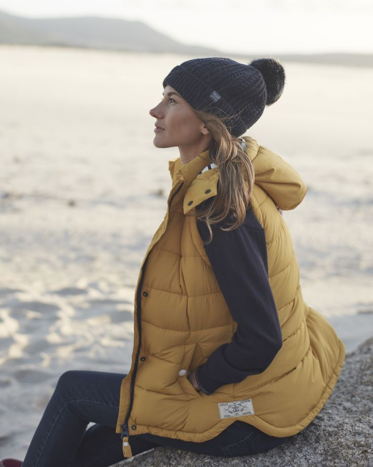 Joules Yellow Hooded Gilet