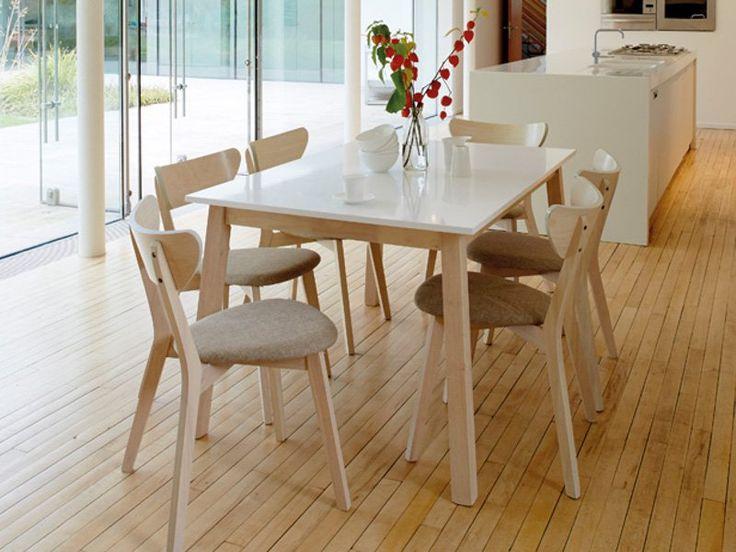 Köp - 2290 kr! Bord Madera 140-180 cm - Ljus ek/vit. Madera är ett modernt bord med ben i ljus ek