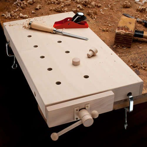 This portable work bench top might be child-sized, but it also looks to pack adult-level functionality.