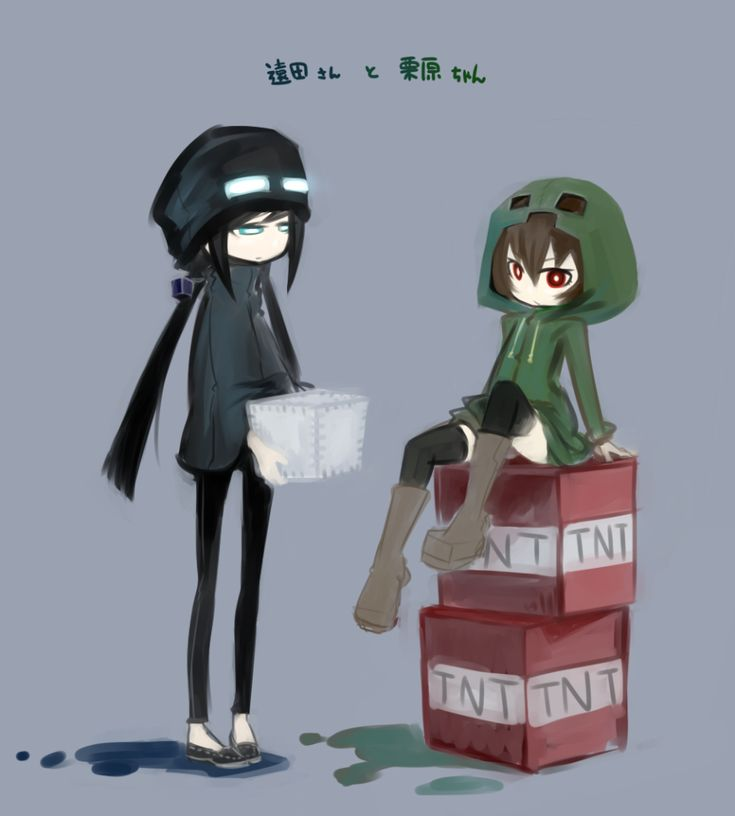 Cute creeper and enderman together creeper - Creeper anime girl ...