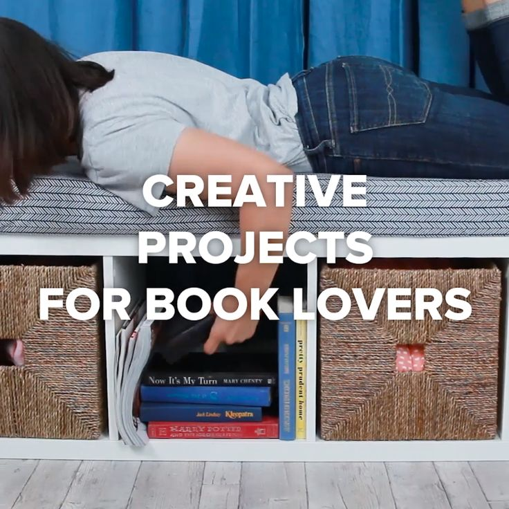 Creative Projects For Book Lovers #DIY #bookcase #storage
