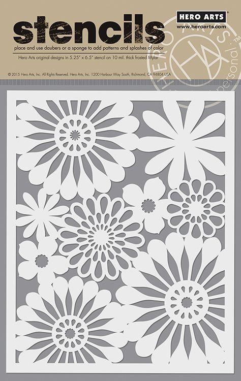 Hero Arts - Stencils - Bold Daisy