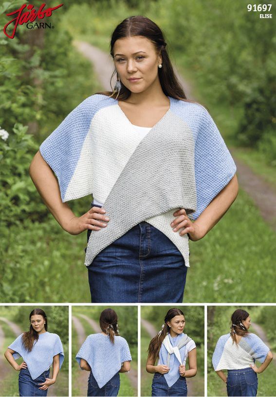 Moss stitch shawl.