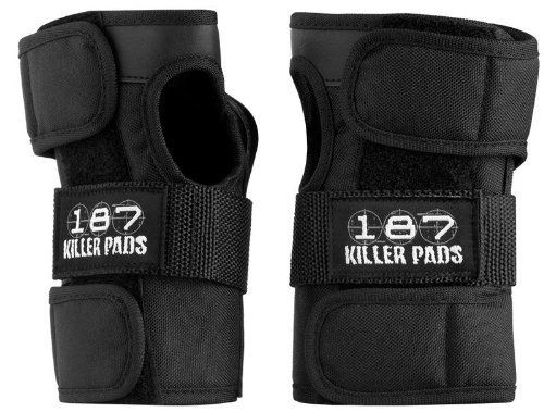 Skateboard Gear - Killer Pads Wristguard by 187 - Black - Small by 187. $41.99. The One Eight Seven 187 Wrist Guards The Best Wrist Guard on the Market - Hands Down! Contoured design for excellent fit & comfort Double stitching and high-strength ballistic nylon for durability Extra thick splint protection concentrated at the base of the hand where most impacts occur