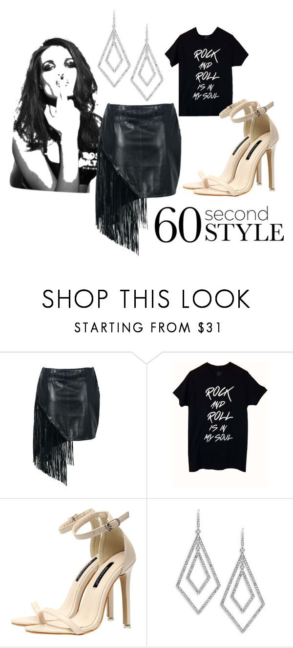 """""""Rock n' Roll"""" by sarah-anderson-iii ❤ liked on Polyvore featuring Whiteley, ABS by Allen Schwartz, asymmetricskirts and 60secondstyle"""