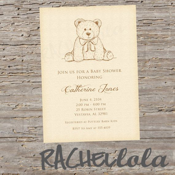 Hey, I found this really awesome Etsy listing at https://www.etsy.com/listing/238557519/teddy-bear-baby-shower-invitation-do-it