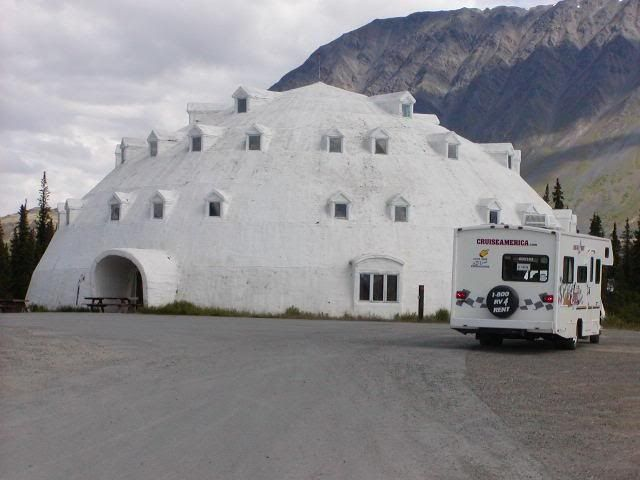 igloo house in Alaska...this is an actual house