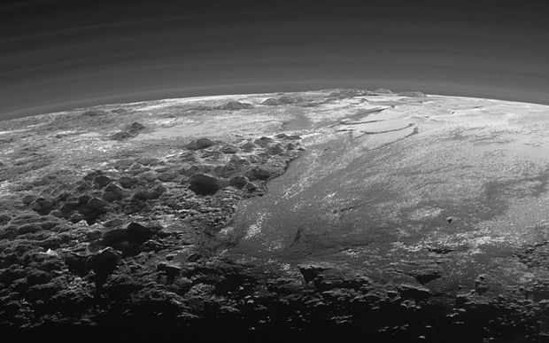 Nasa's New Horizons captured this incredible image of twilight on Pluto