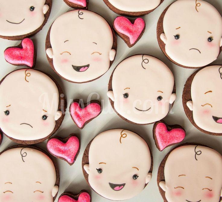Petites frimousses de bébé (biscuits) Baby faces cookies