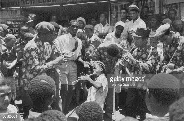 News Photo : Band leader Lemme Mabasob w. his troop of...