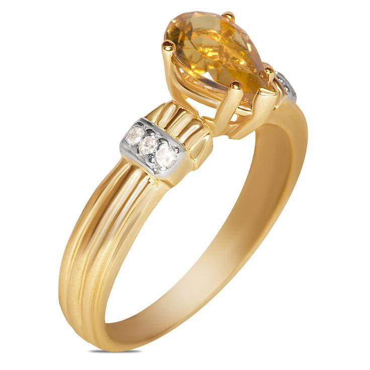 Ebay NissoniJewelry presents - .06CT Diamond w/ Citrine Ring 10k Y/Gold    Model Number:FR8952A-Y077CIT    http://www.ebay.com/itm/06CT-Diamond-w-Citrine-Ring-10k-Y-Gold-/322048738948