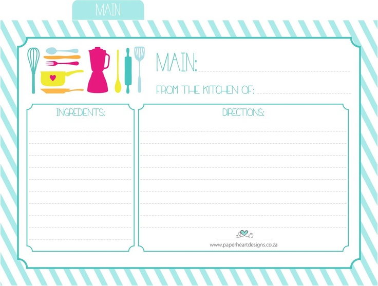 116 best Printable Recipe Card images on Pinterest Baking - index card template