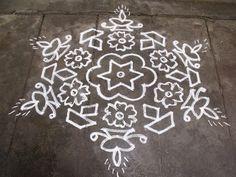 South India traditinal rangoli