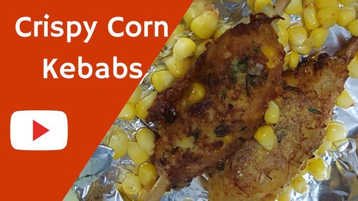 How to make Crispy Corn Kebabs |कॉर्न कबाब |sweet corn kebab|Corn Cutlet...
