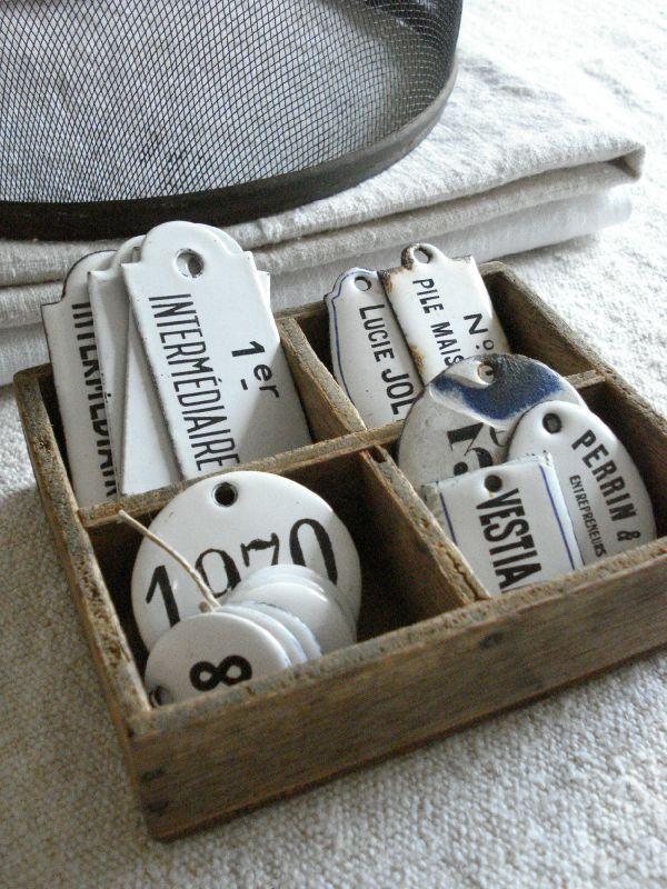Enamel French tags