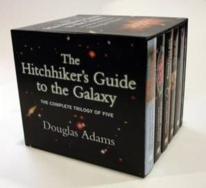 The Hitchhiker's Guide to the Galaxy (series) by Douglas Adams