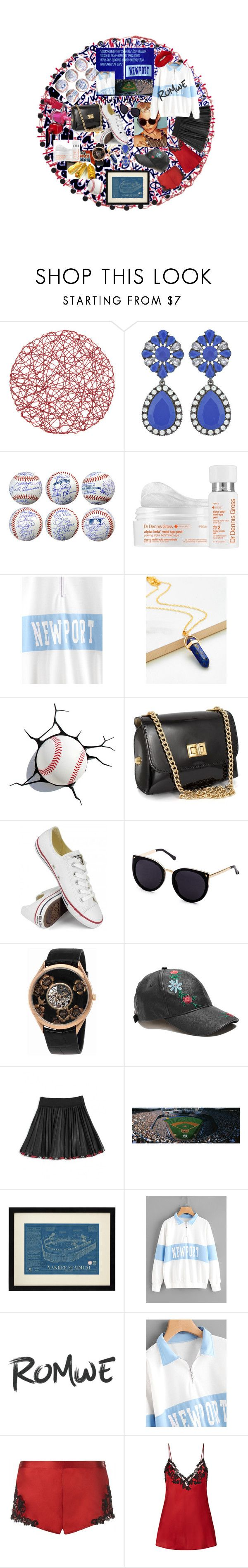 """""""ROMWE-Wim 30$ coupon"""" by carriearmstrong269 ❤ liked on Polyvore featuring Dr. Dennis Gross Skincare, Converse, Vacheron Constantin, GUESS, Monnalisa, La Perla and Lime Crime"""