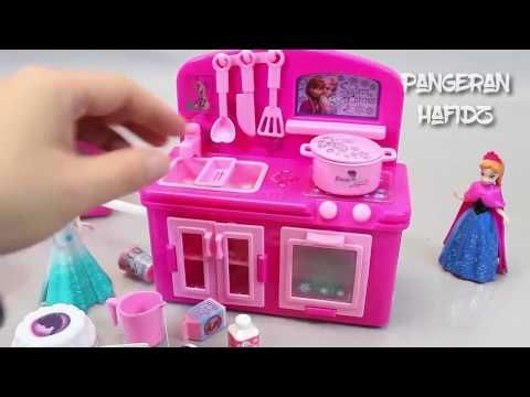 Cooking Frozen Elsa Kitchen Fridge Oven Play Doh Toy Surprise Eggs Toys