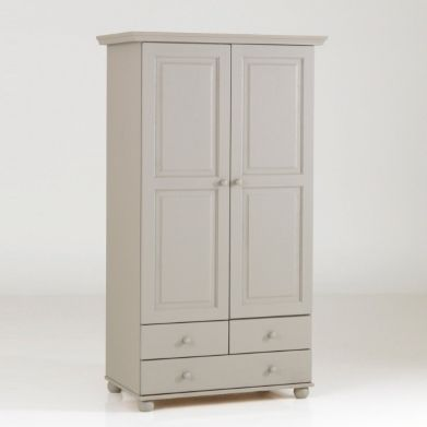Armoire pin massif, 2 portes penderie, 3 tiroirs, Harold, La Redoute