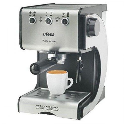 pinterest & instagram -> #plazup www.plazup.com   Express Manual Coffee Machine UFESA CE7141 1,5 L 15 bar 1050W Black Silver Inox