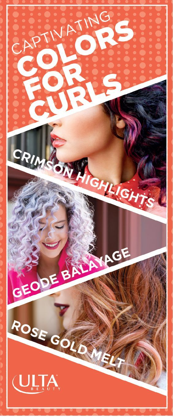 Curls + color = a style double threat! What hair hues are hot? Crimson Highlights, Geode Balayage and Rose Gold Melt. The Salon at Ulta Beauty is the destination to get these trending, runway-inspired looks. Make an appointment today.