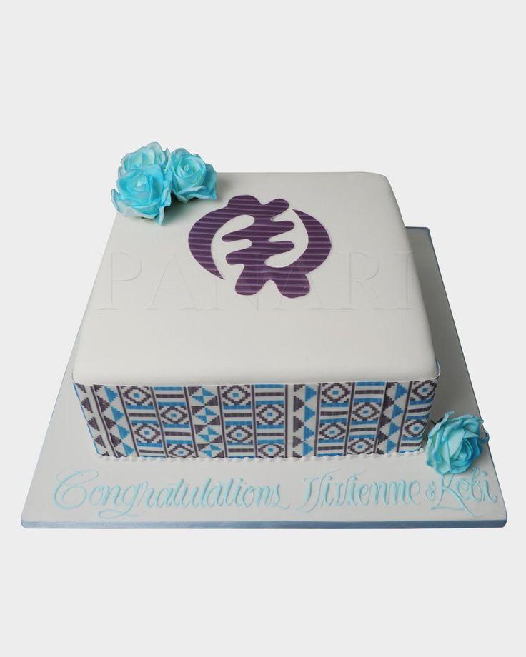 KENTE ENGAGEMENT CAKE - Panari Cakes