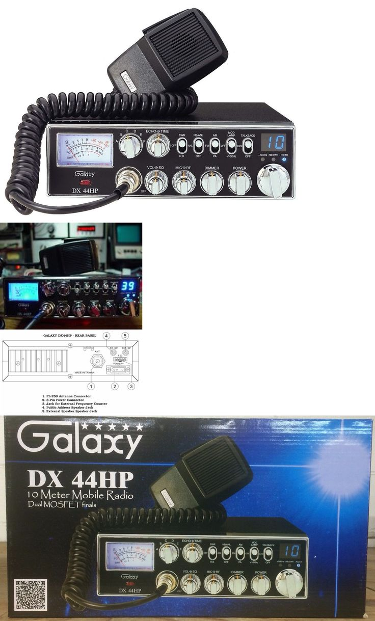 Ham Radio Transceivers: Galaxy Dx-44Hp 10 Meter Amateur Radio -> BUY IT NOW ONLY: $237.78 on eBay!