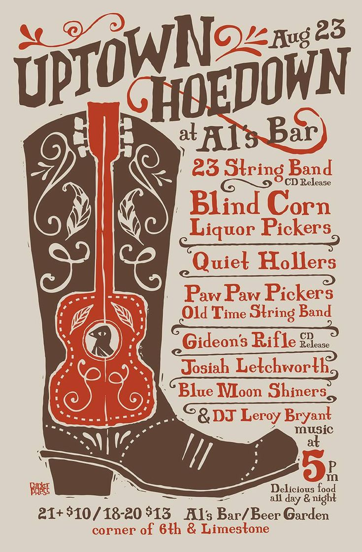 """""""Al's Bar and Lexington Lexington bring you the first ever Uptown Hoedown! The bluegrass party of the season, block party style. Come early, eat, drink, and stay late. 23 String Band will be celebrating the release of their upcoming full…"""