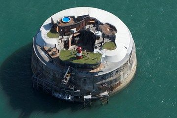 Spit bank Fort in The Solent