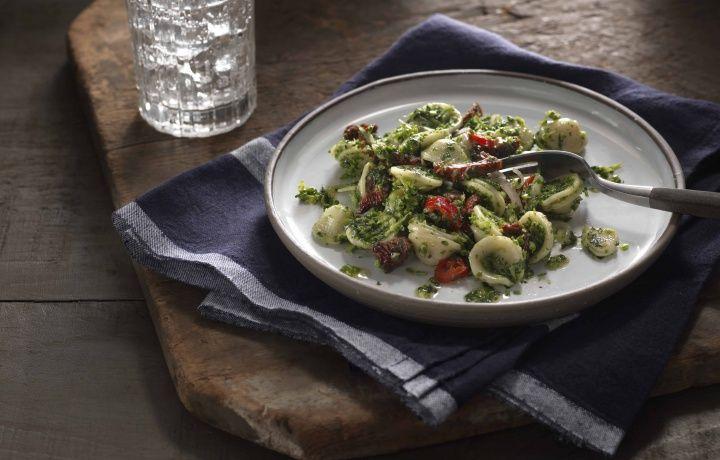 Vegetarian Winter Pesto Orecchiette