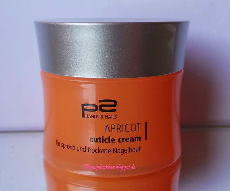 p2 Apricot Cuticle Cream für spröde und trockene Nagelhaut