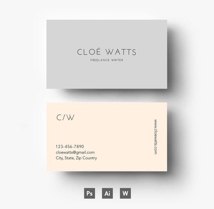 Modern Business card template by Emily's ART Boutique on Creative Market