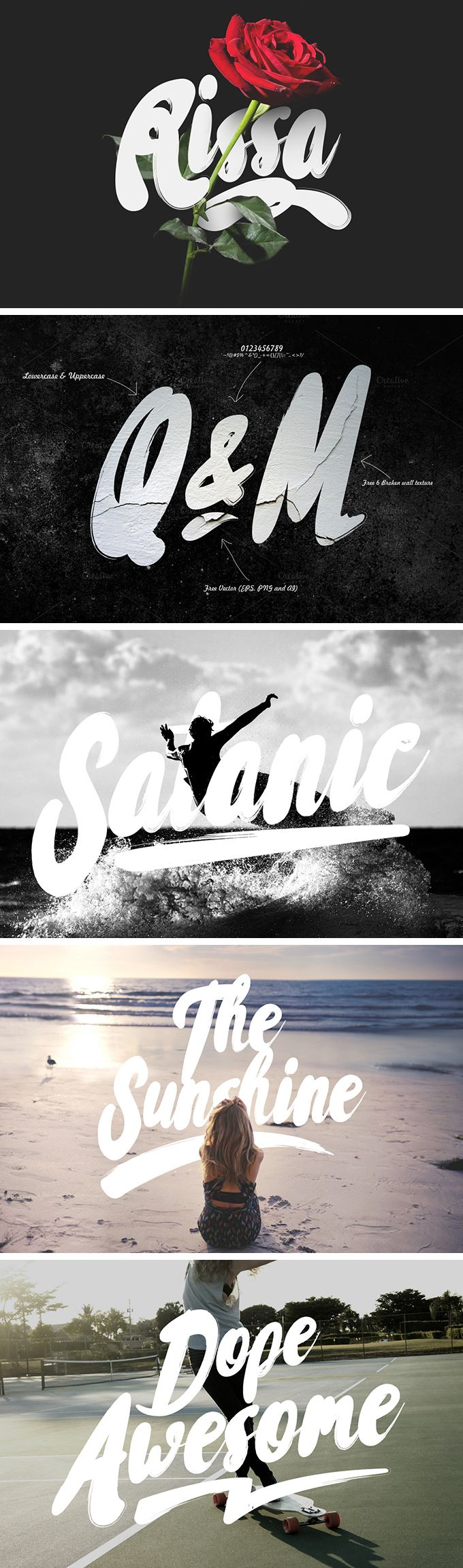 Rissa Typeface | designed and released by Maulana Creative
