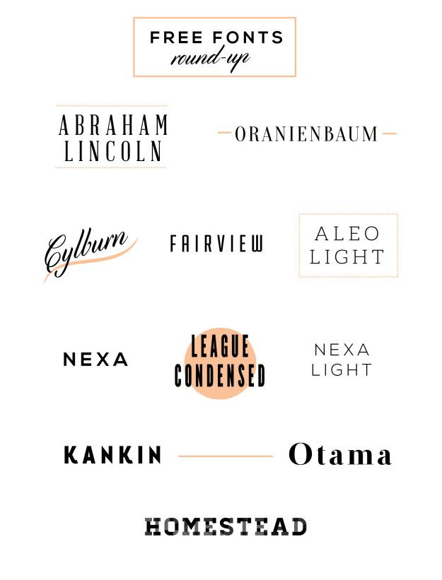good fonts for free.