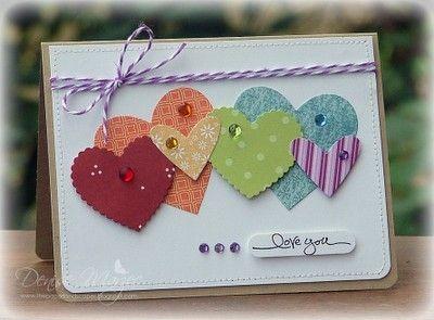 cute hearts card by carol.ferrier