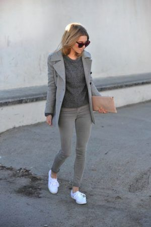 jeans grises mujer